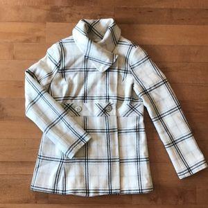 Calvin Klein Plaid Pea Coat